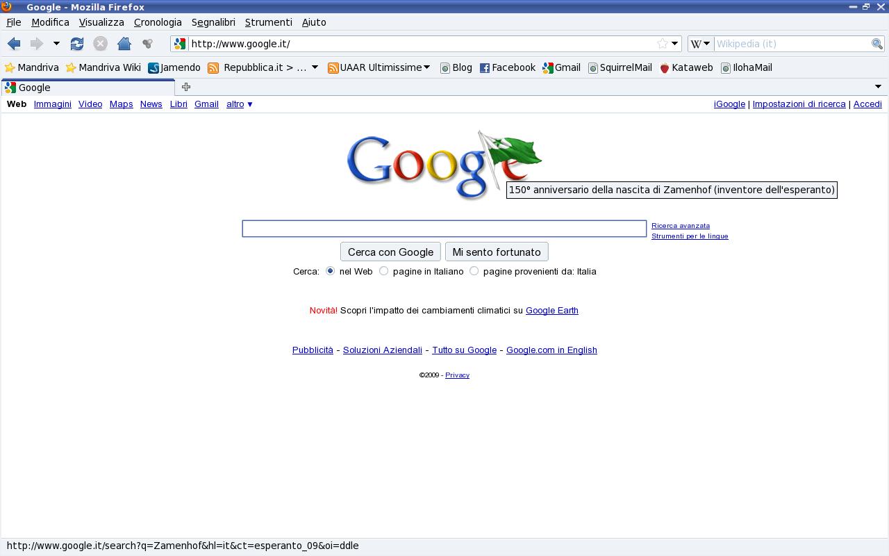 Google e l'esperanto